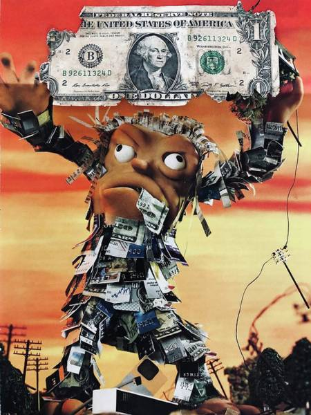 Wall Art - Mixed Media - Cash Or Credit ? Chasing The Almighty Dollar by Douglas Fromm