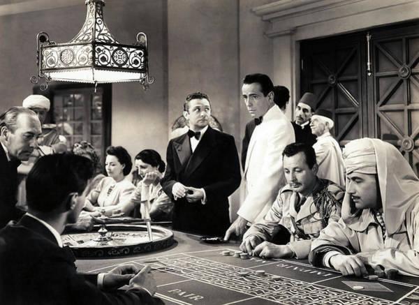 Wall Art - Photograph - Casino Movie Still - Casablanca 1942 by Daniel Hagerman