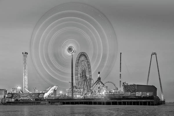 Photograph - Casino Pier Seaside Heights Nj  Bw by Susan Candelario