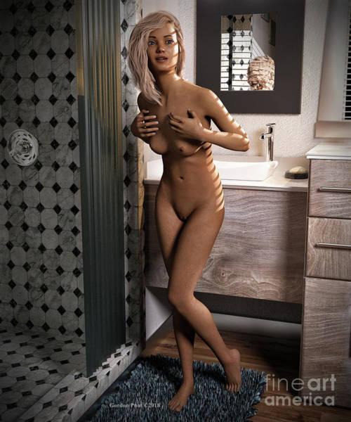 Digital Art - Cassandra Nude Female Bath by Gordon Punt