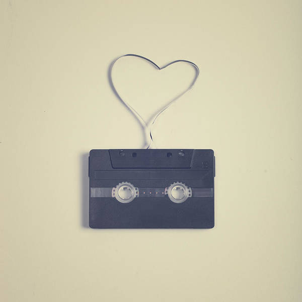 Colombian Wall Art - Photograph - Cassette Tape In Heart by Andrea Carolina Photography