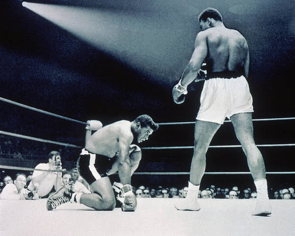 Muhammad Ali Photograph - Cassisus Clay V Floyd Patterson by Hulton Archive