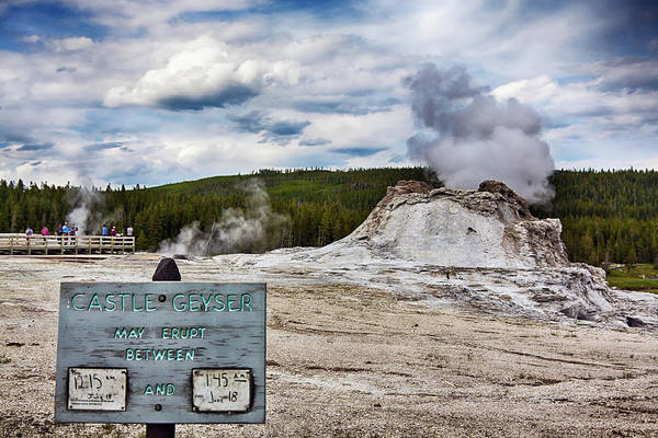 Photograph - Castle Geyser In Yellowstone May Erupt by Tatiana Travelways