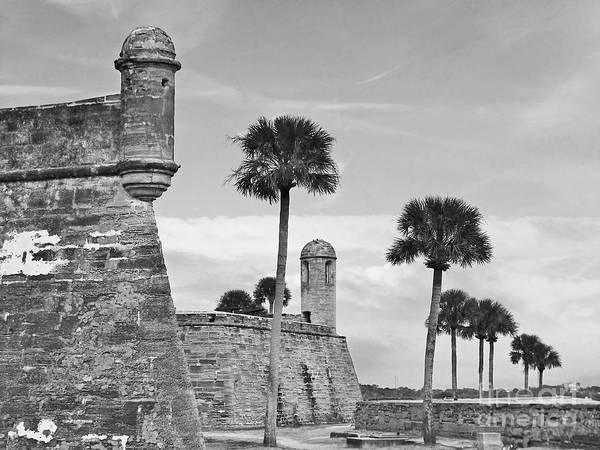 Photograph - Castillo De San Marcos Bw by D Hackett