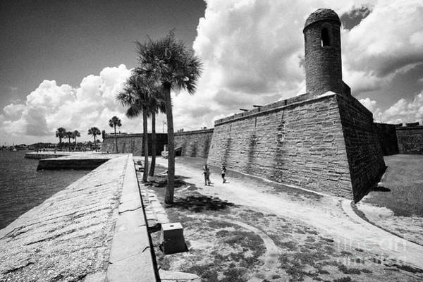 Wall Art - Photograph - Castillo De San Marcos National Monument Fort On The Shores Of Matanzas Bay St Augustine Florida Us  by Joe Fox