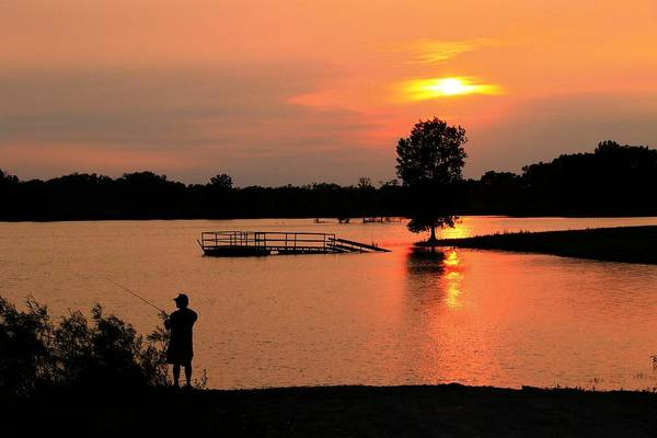 Wall Art - Photograph - Casting The Day Away At Rapp Lake by J Laughlin