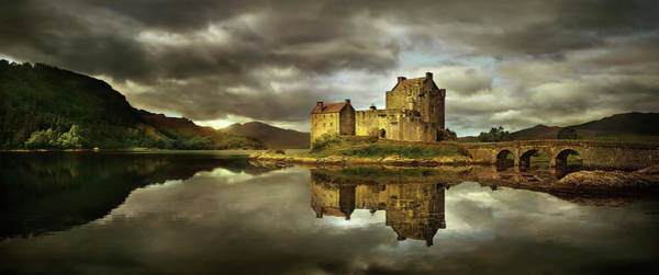 Wall Art - Photograph - Castle And Sky Reflected In Still Rural by Chris Clor