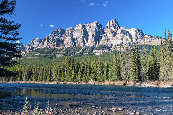 Photograph - Castle Cliffs From The Bow River by Tim Kathka