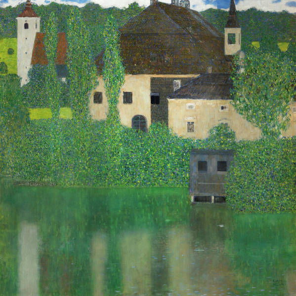 Wall Art - Painting - Water Castle by Gustav Klimt