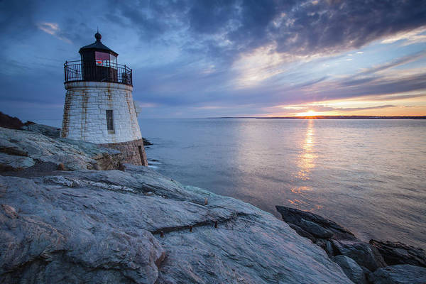 Photograph - Castle Hill Light Sunset by Eric Full