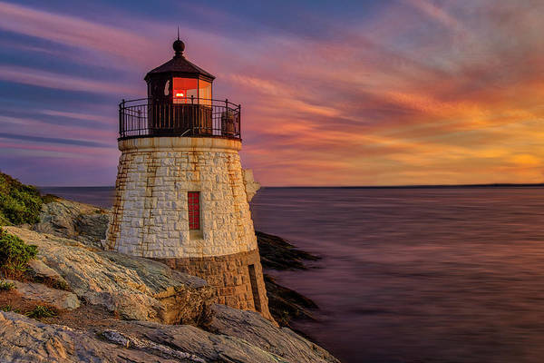 Photograph - Castle Hill Lighthouse Ri by Susan Candelario