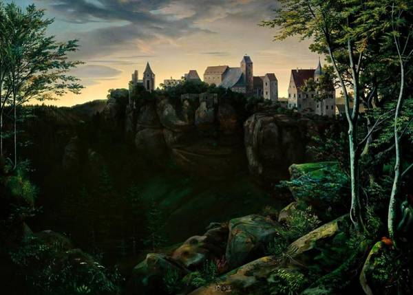 Wall Art - Painting - Castle Hohnstein by Ernst Oehme