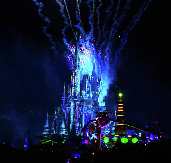 Tomorrowland Photograph - Castle In Blue by David Lee Thompson