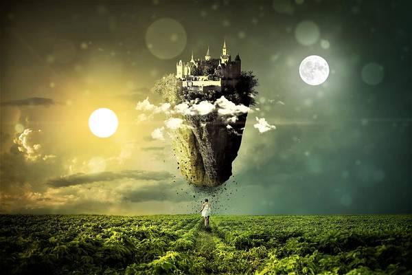 Mystic Digital Art - Castle In The Sky by ArtMarketJapan
