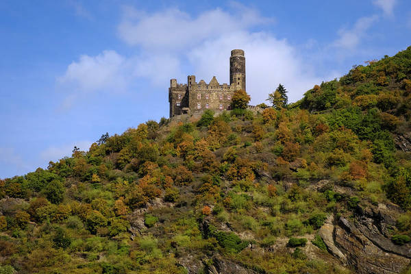 Photograph - Castle Maus On The Rhine In Autumrn by Mary Lee Dereske