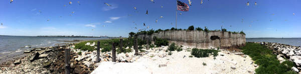 Us Civil War Digital Art - Castle Pinckney Panorama, Charleston Harbor by Matt Richardson