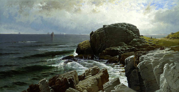 Wall Art - Painting - Castle Rock, Marblehead by Alfred Thompson Bircher