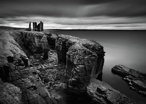 Wall Art - Photograph - Castle Sinclair Girnigoe by Dave Bowman