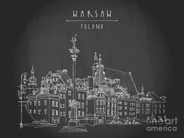 Wall Art - Digital Art - Castle Square In Old Center Of Warsaw by Babayuka