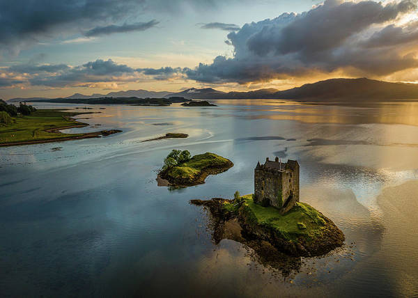 Photograph - Castle Stalker Sunset by Dave Bowman