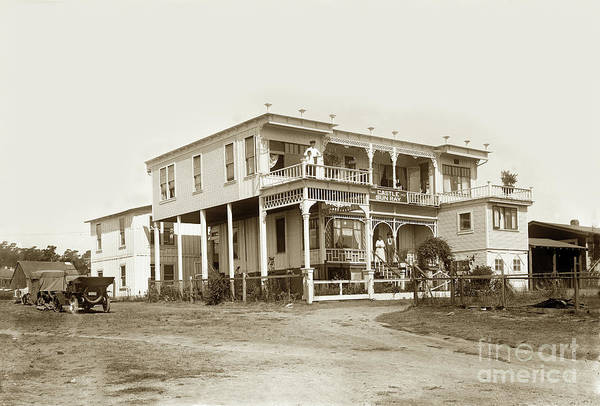 Photograph - Castle Sun Ray Apartments 207 1/2 Monroe Street, Monterey 1922 by California Views Archives Mr Pat Hathaway Archives