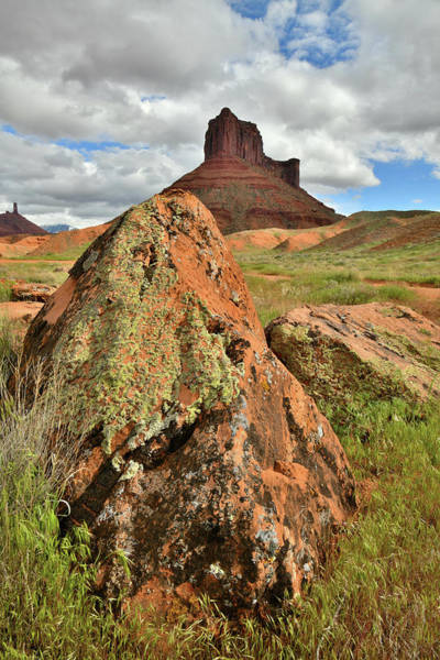 Photograph - Castle Valley Butte In Shadow by Ray Mathis