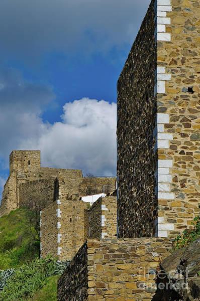 Castle Wall In Alentejo Portugal Art Print