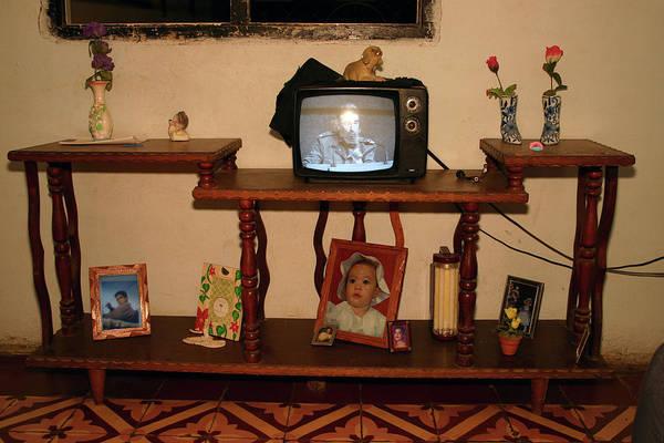 Photograph - Castro On Tv - Cuba by Rick Veldman
