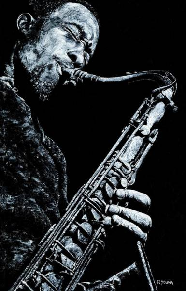 Wall Art - Painting - Casual Sax by Richard Young