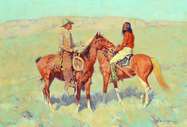 Casual Painting - Casuals On The Range, 1909 by Frederic Remington