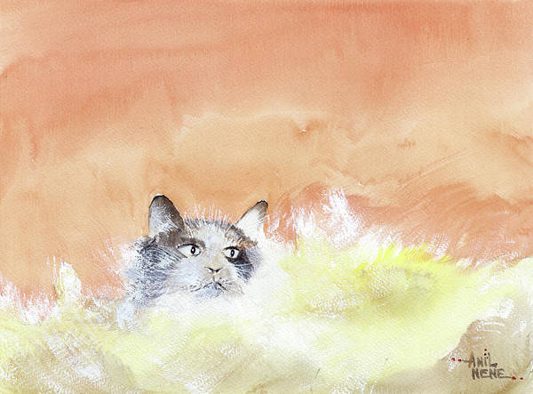 Painting - Cat 1 by Anil Nene