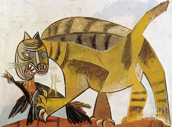 Picasso Painting - Cat Devouring A Bird 1939 by Pablo Picasso