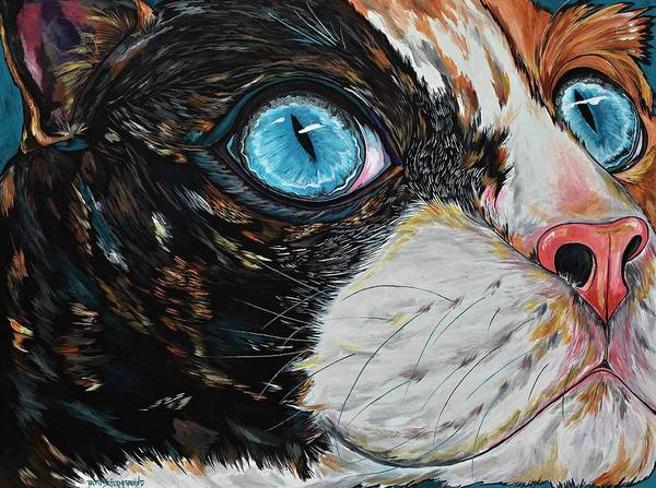 Painting - Cat In Color by Patti Schermerhorn