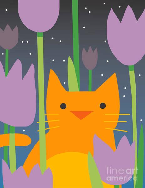 Orchids Digital Art - Cat Look 3 by Artistan