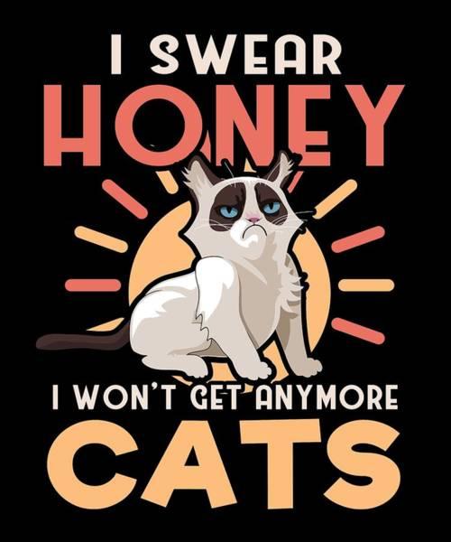 Cat Lover I Swear Honey I Wont Get Any More Cats Art Print