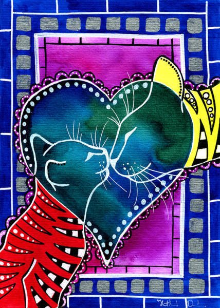 Painting - Cat Mom Love by Dora Hathazi Mendes