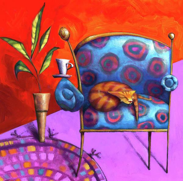 Wall Art - Painting - Cat Nap by Barbara Hranilovich