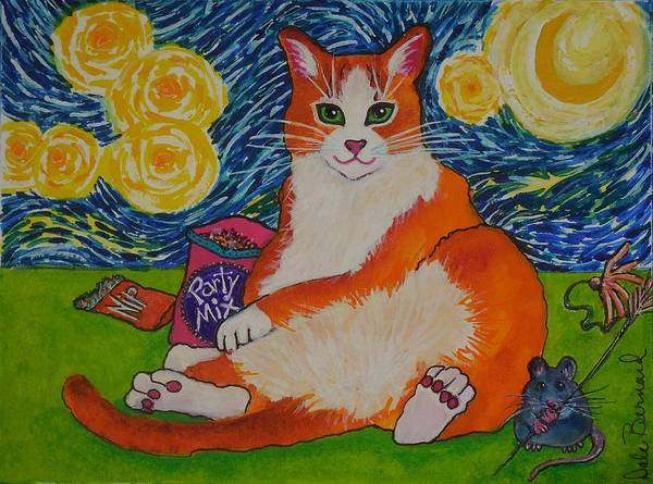 Painting - Cat Nipped  by Dale Bernard