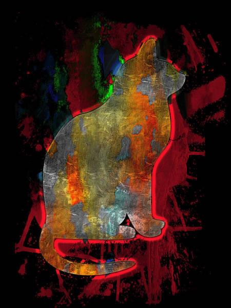 Digital Art - Cat On A Hot Tin Roof by Carlos Diaz