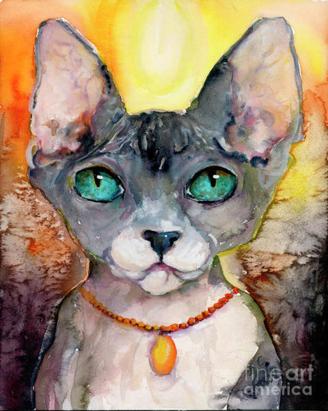 Painting - Cat Portrait My Name Is Adorable by Ginette Callaway