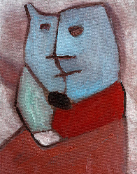 Painting - Cat Portrait by Artist Dot