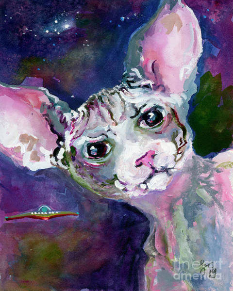 Painting - Cat Portrait My Name Is Luna by Ginette Callaway