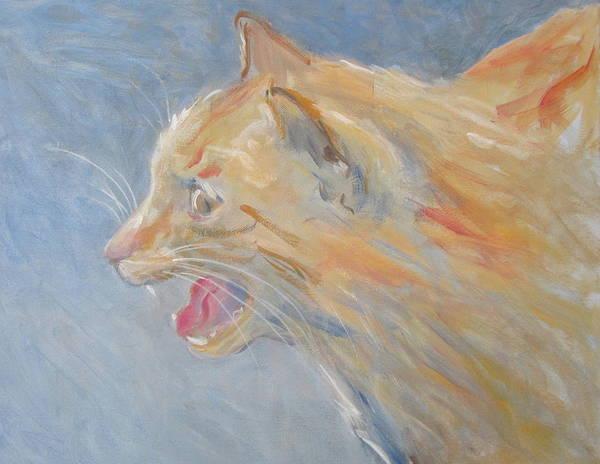 Painting - Cat Talk by Kazumi Whitemoon