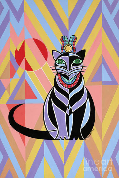 Wall Art - Painting - Cat, Untitled by Manuel Bennett