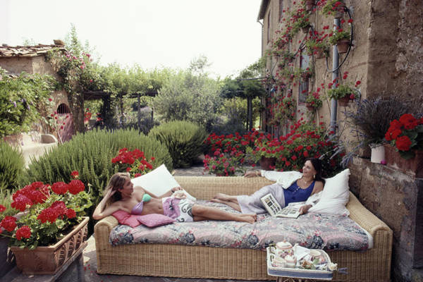 Daughter Photograph - Cataldi And Daughter by Slim Aarons