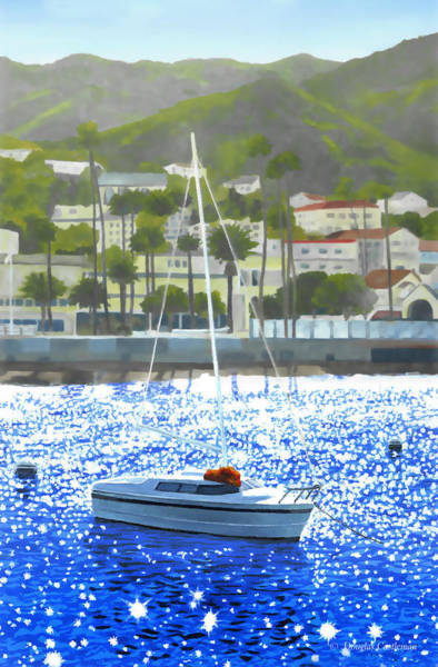 Painting - Catalina Boat by Douglas Castleman