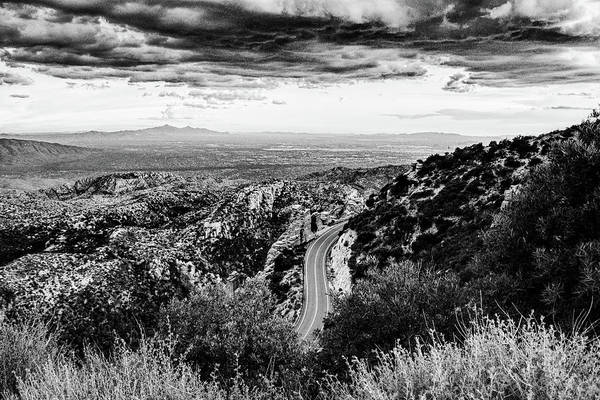 Photograph - Catalina Highway Black And White, Tucson by Chance Kafka