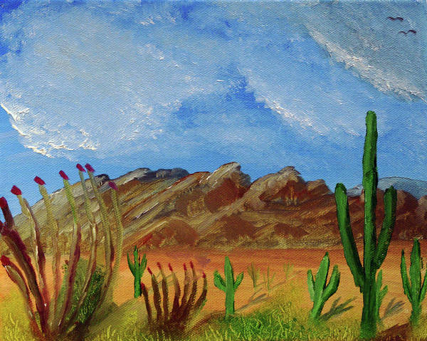 Painting - Catalina Mountains And Sonoran Desert Plants by Chance Kafka