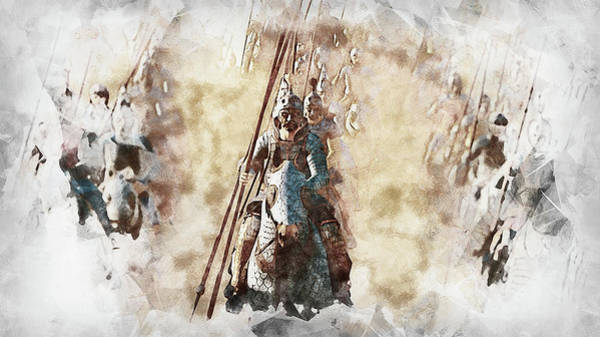 Painting - Cataphract - 03 by Andrea Mazzocchetti