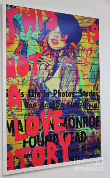 Screenprinting Painting - Catch Original This Is Not A Love Story By Digigraphie By Epson by Felix Von Altersheim